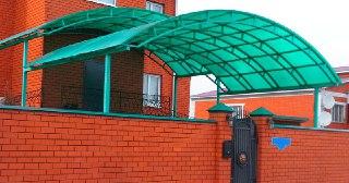 Козырек над домом Москва цена от 6185 руб.